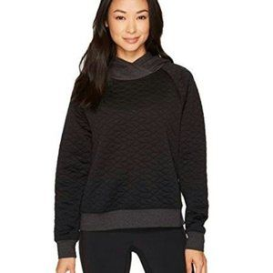Lucy Full Potential Quilted Black Sweatshirt - M